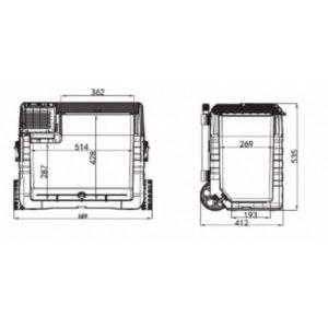 Автохолодильник компрессорный Alpicool NX52