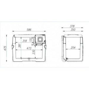 Автохолодильник компрессорный Alpicool CX40